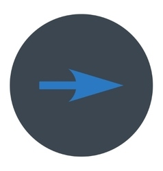 Arrow Axis X flat smooth blue colors round button vector