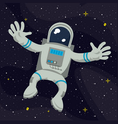 astronaut flying on space vector image
