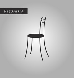 black and white style icon chair vector image vector image