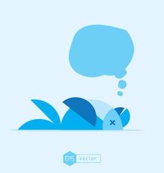 Blue bird dead vector