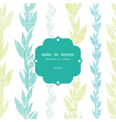 Blue green seaweed vines frame seamless pattern vector image