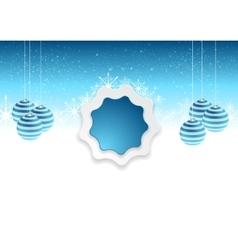Blue white abstract Christmas background vector image