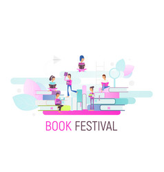 book festival banner vector image