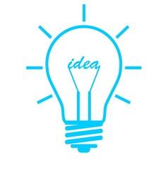 Bubl idea blue ray vector