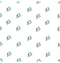 Builder Business Help Flat Seamless Pattern vector