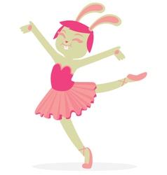 Bunny Dancing Ballet vector image
