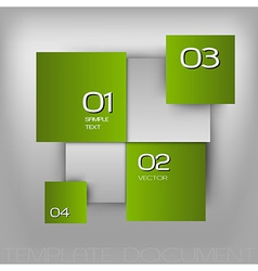 Business squares light green with text vector
