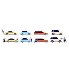 car repair auto services diagnostic wheels vector image