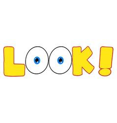 Cartoon words and symbols vector image