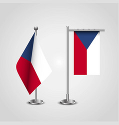 czech republic country flag on pole vector image