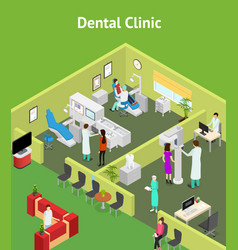 dentistry interior with furniture isometric view vector image
