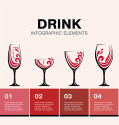 drink design elements business templat vector image