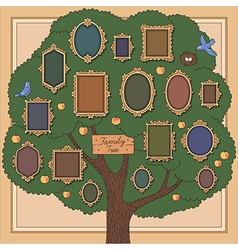 Family tree two bird vector