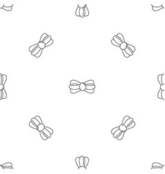 Fashion bow tie pattern seamless vector