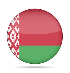 Flag of belarus shiny round button vector