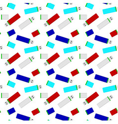 flash drives colored seamless pattern vector image