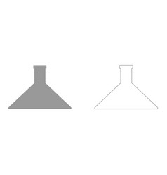 Flask set icon vector
