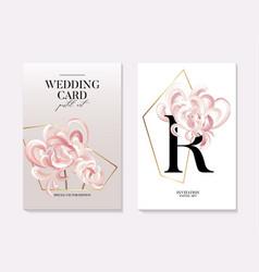 flowers and foliage chrusanthemum wedding vector image