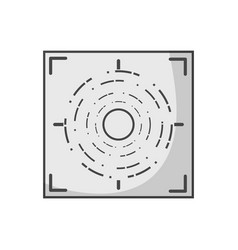 grayscale gun sight circle with shooting focus vector image