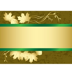grunge card with autumn leaves vector image