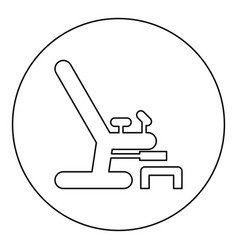 gynecological chair icon black color in round vector image