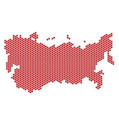 Hexagon ussr map vector