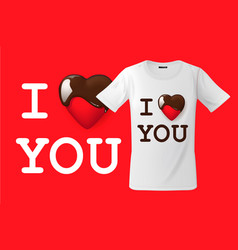 i love you t-shirt design modern print use vector image