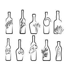 Icons alcoholic beverages vector image