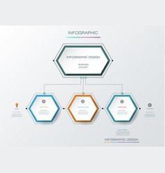infographics timeline design template vector image