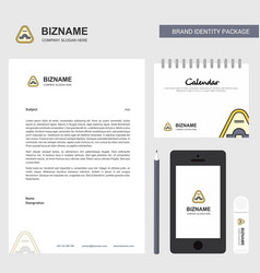 Jump road sign business letterhead calendar 2019 vector