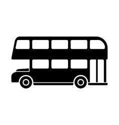 London Double Decker Bus Silhouette vector