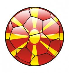 macedonia flag on soccer ball vector image