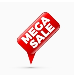Mega sale banner limited time only vector