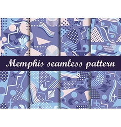 Memphis seamless pattern in the style of 80s vector image