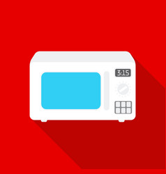 Microwave icon in flat style isolated on white vector