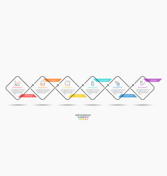 Minimalistic infographic template vector