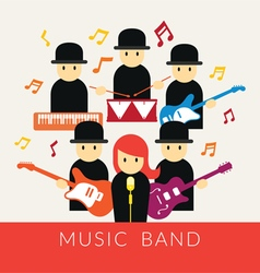 Musician with Instruments Band Group vector image