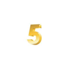 Number 5 3d template design vector