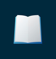 open book colored education icon on dark vector image