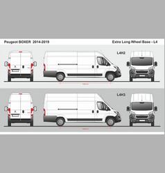 Peugeot boxer cargo delivery van l4 2014-2019 vector