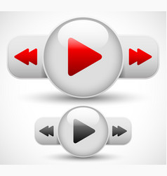 Play fast forward rewind button vector