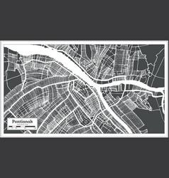 Pontianak indonesia city map in retro style vector
