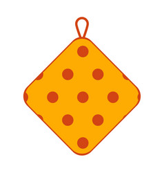 Potholder made of textile with polka dot pattern vector