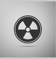Radioactive icon isolated on grey background vector