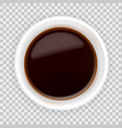 realistic soy sauce in a bowl vector image