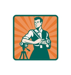Retro Photographer Icon vector