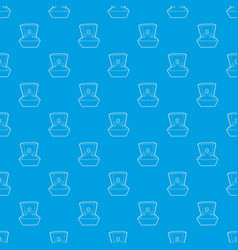 ring pattern seamless blue vector image