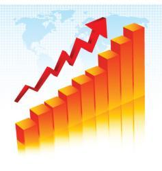 Rising profits vector