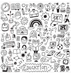 School education - doodle set vector