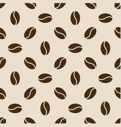 seamless coffee beans pattern vector image
